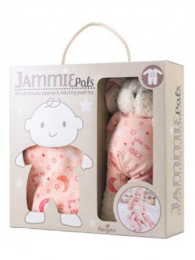 Demdaco Jammie Pals Gift Set - Love You to The Moon & Back (Pink)