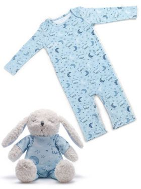 Demdaco Jammie Pals Gift Set - Love You to The Moon & Back (Blue)