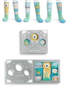 Story Time Knee Sock Gift Set - Adventure Under the Sea