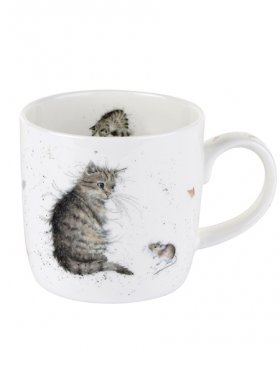 Royal Worcester Cat and Mouse Mug