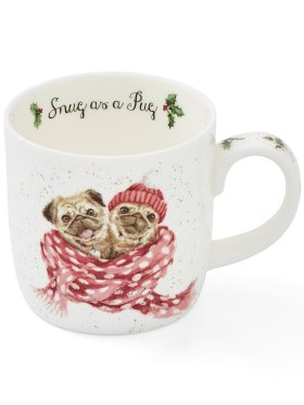 Royal Worcester Pug Love Mug
