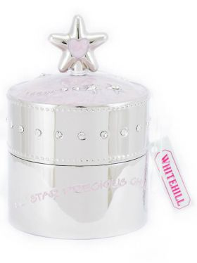Whitehill Pink Star Baby's Musical Box