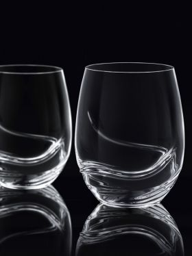Bohemia Crystal Turbulence Stemless Wine, 500ml x 2