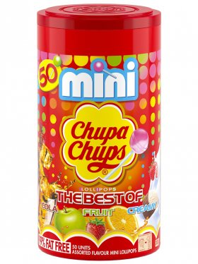 50 Mini Chupa Chups - 300g - The Best Of Cola, Fruit & Creamy