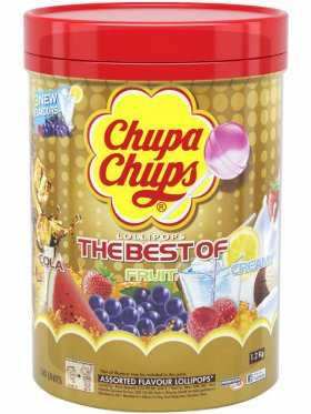 100 Chupa Chups - 1.2kg - The Best Of Cola, Fruit & Creamy
