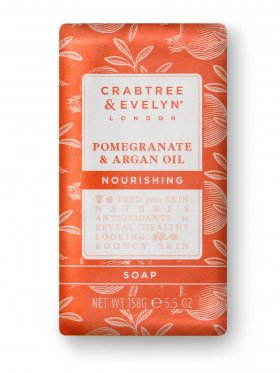 Crabtree & Evelyn Pomegranate & Argan Oil Nourishing Soap 158g