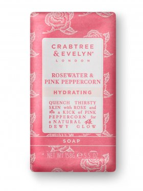 Crabtree & Evelyn Rosewater & Pink Peppercorn Hydrating Soap 158g