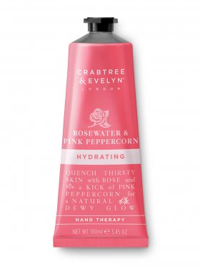 Crabtree & Evelyn Rosewater & Pink Peppercorn Hydrating Hand Therapy 100ml