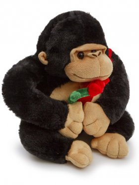 Mac Gorilla Carrying A Rose Black