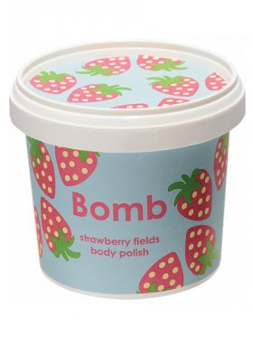 Bomb Cosmetics - Strawberry Fields Cleansing Body Polish 375g