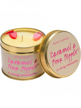 Bomb Cosmetics - Caramel & Pink Pepper Tin Candle