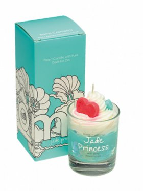 Bomb Cosmetics - Jade Princess Boxed Piped Glass Candle
