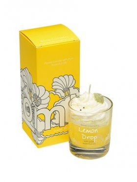 Bomb Cosmetics - Lemon Drop Boxed Piped Glass Candle