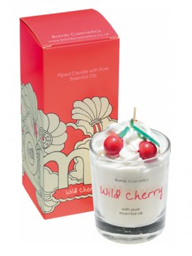 Bomb Cosmetics - Wild Cherry Piped Glass Candle