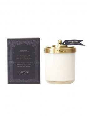 MOR Fragrant Candle 380g - Strawberry & White Jasmine