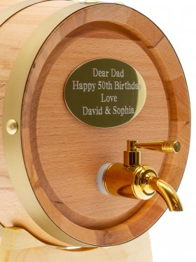 Oak Wine Barrel 3L with Engraved Plaque