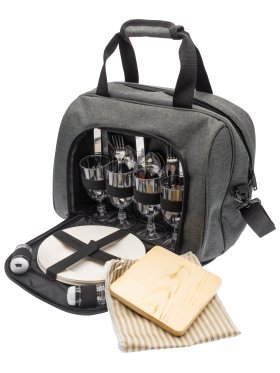 Four Person Canvas Insulated Picnic Bag