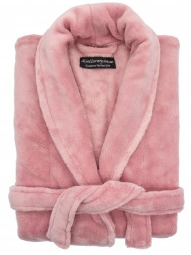 Plush Ultra Soft Robe - Blush, Small