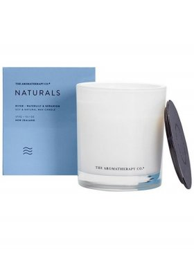 The Aromatherapy Co. Naturals Candle 370g, River: Waterlily & Geranium