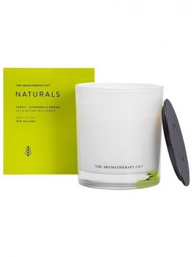 The Aromatherapy Co. Naturals Candle 370g, Forest: Evergreen & Freesia