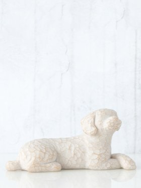 Willow Tree Figurine - Love my Dog (small, lying down)