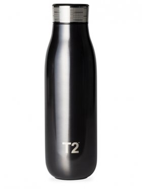 T2 Stainless Steel Etched Lid Flask 500ml - Metallic Charcoal
