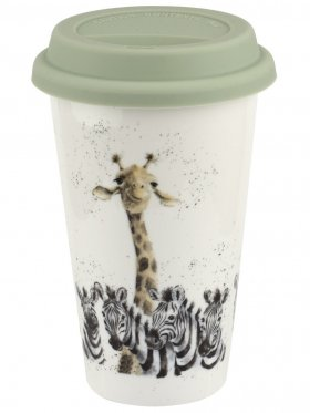 Royal Worcester Travel Mug - Giraffe & Zebra